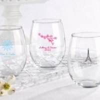 Personalized 15 oz Stemless Wine Glasses Favors