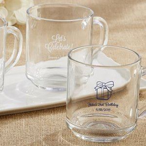 Rise and Shine Glass Coffee Mug Birthday Party Favors image