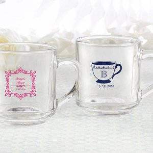 Personalized Tea Time Glass Coffee Mug image