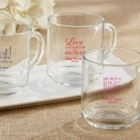 Rise and Shine Personalized Glass Coffee Mug (9 oz)