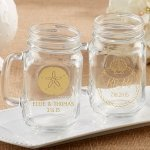 Personalized Beach Tides Mason Jar Mug Favor