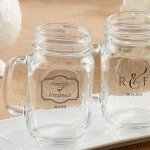 Personalized Classic Theme 16 oz. Mason Jar Mug Favors