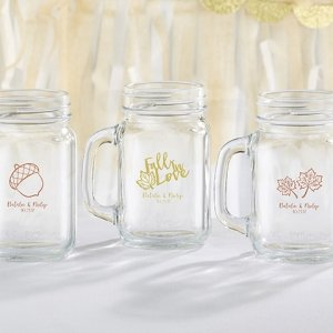 Personalized Fall Design 16 oz Mason Jar Mug image