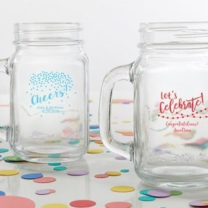 Personalized 16 oz Party Time Mason Jar Mug image