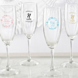 Personalized Ethereal Champagne Flute Favors image