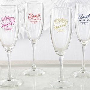 Personalized Party Time Champagne Flute Favors image