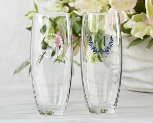 Personalized 9 oz Botanical Garden Stemless Champagne Glass image