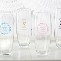 Personalized Ethereal 9 oz Stemless Champagne Glass Favors