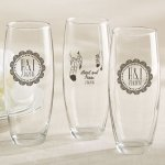 Personalized Boho Stemless Champagne Glass Favors