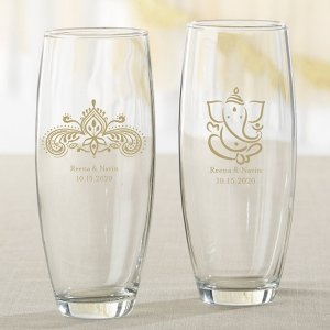 Personalized Indian Jewel Stemless Champagne Glass image