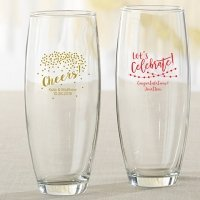 Personalized Party Time 9 oz Stemless Champagne Glass Favors
