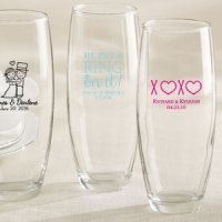 Personalized Stemless Champagne Glass Wedding Favors