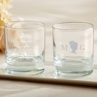 Personalized English Garden Rocks Glasses