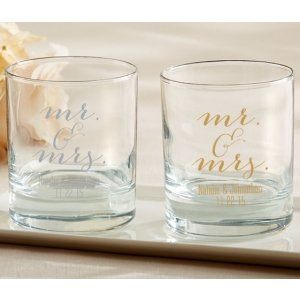 Personalized Mr & Mrs. Rocks Glasses image