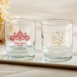 Personalized Indian Jewel Rocks Glass Favors image
