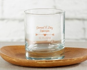 Personalized Winter Design 9 oz Rocks Glass image