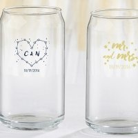 Personalized Under the Stars Can Glass Favors