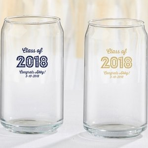 Personalized Class of 2018 Can Glass image