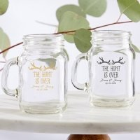 Personalized The Hunt is Over Mini Mason Mug