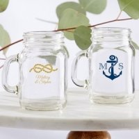 Personalized Nautical Mini Mason Mug