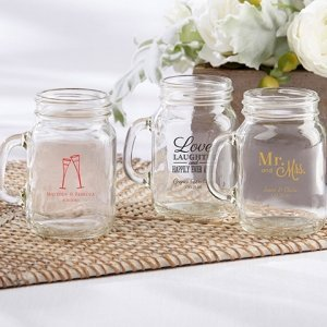 Personalized Wedding Mini Mason Mug image