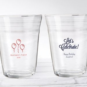 Personalized Birthday Party Cup Glass Favors image