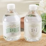Rustic Theme Personalized Water Bottle Labels