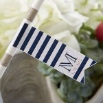 Personalized Nautical Party Straw Flags