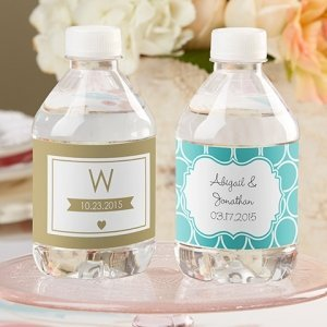 Personalized Wedding Water Bottle Labels image