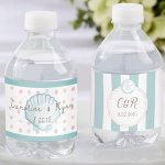 Personalized Beach Tides Water Bottle Labels