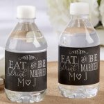 Personalized Eat Drink & Be Married Water Bottle Labels