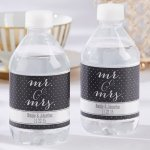 Personalized Mr. & Mrs. Water Bottle Labels