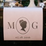 Personalized English Garden Table Runner
