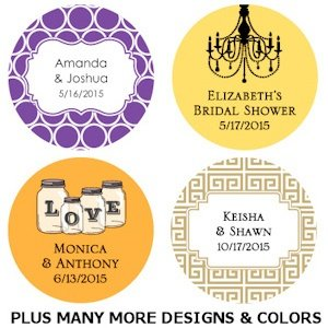 Personalized Round Wedding Favor Tags (Set of 36) image