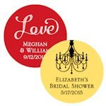 Personalized Round Wedding Favor Tags (Set of 36)