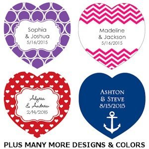Heart-Shaped Personalized Wedding Favor Tags (Set of 36) image