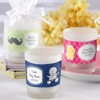 Frosted Glass Baby Shower Candle Favors