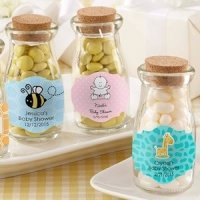 Vintage Milk Bottle Baby Shower Favor Jar (Set of 12)