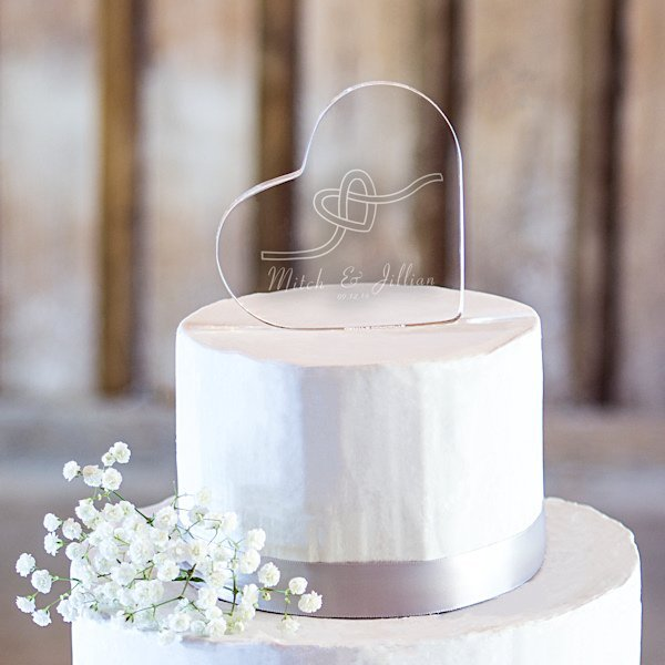 acrylic wedding cake toppers monogram personalized tie the knot acrylic cake topper 10538