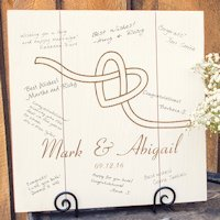 Personalized Tie the Knot Wood Art Guest Book Alternative