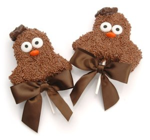 Wise Owl Edible Graduation Rice Krispies Favor Pops image