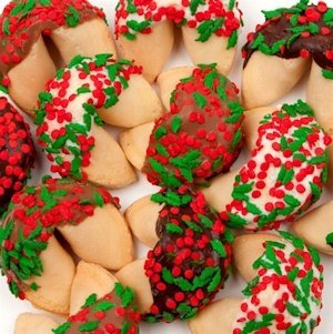 Holly & Berry Sprinkled Gourmet Fortune Cookies image