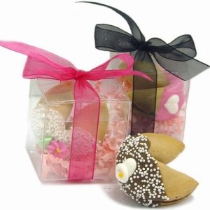 Wedding Fortune Cookie in Clear Favor Gift Box image