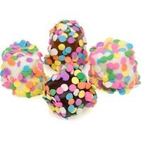 Chocolate Covered Marshmallows with Confetti