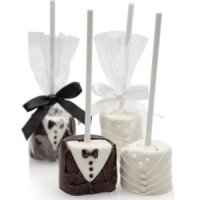 Bride & Groom Hand-Dipped Wedding Marshmallow Pops