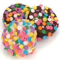 Chocolate Covered Oreos with Colorful Confetti
