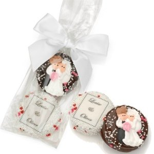 Custom Chocolate Wedding Oreo Favor Bag (2 Cookies) image