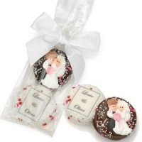 Custom Chocolate Wedding Oreo Favor Bag (2 Cookies)