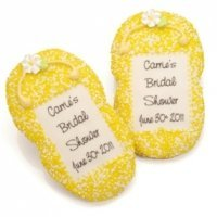 Personalized Flip Flop Sugar Cookie Favors
