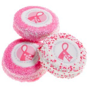 Pink Ribbon Chocolate Dipped Oreo Cookie Favors image